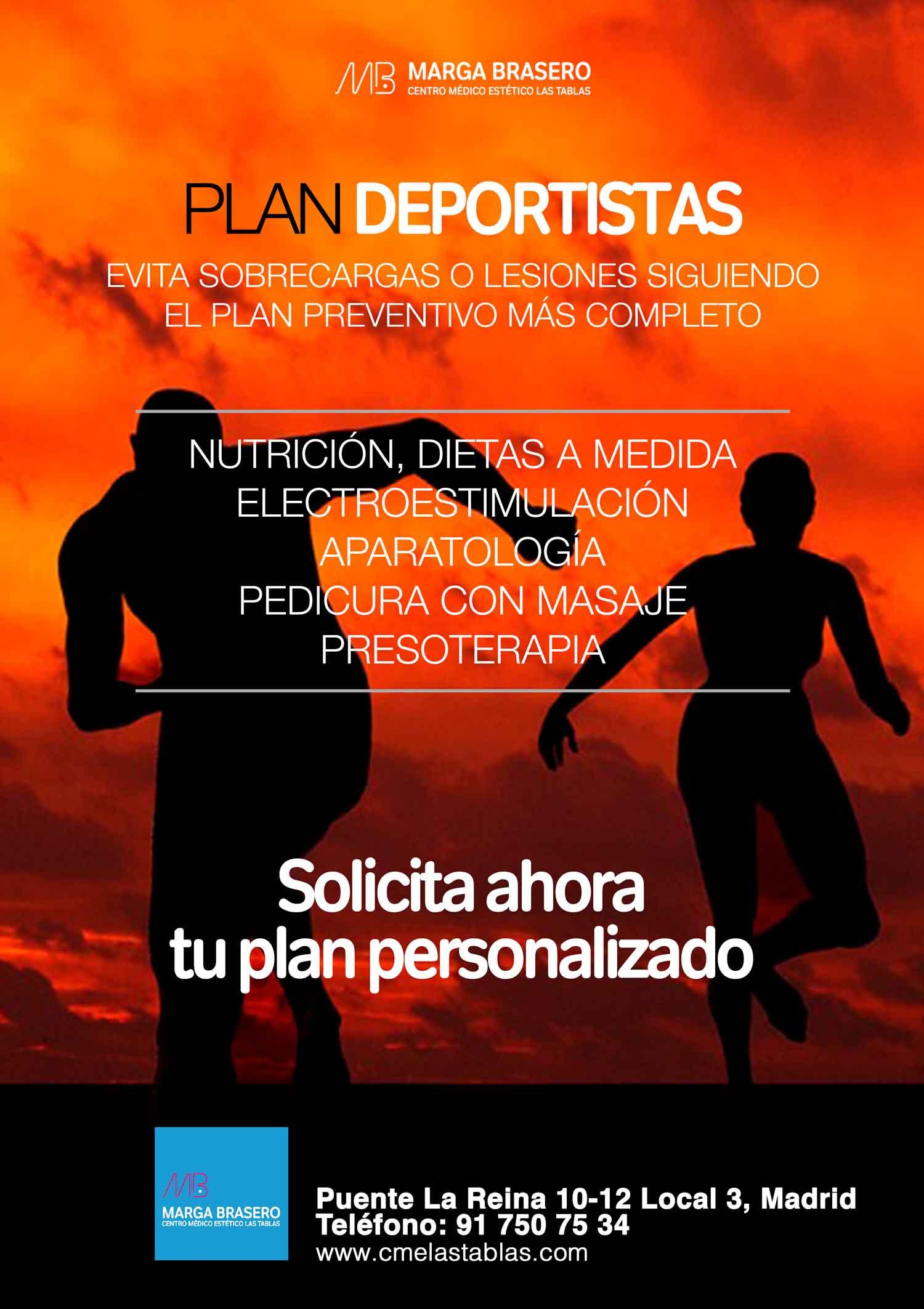 Centro médico estético Marga Brasero promoción para deportistas