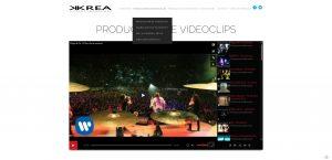 Krea producciones audiovisuales sección videoclips