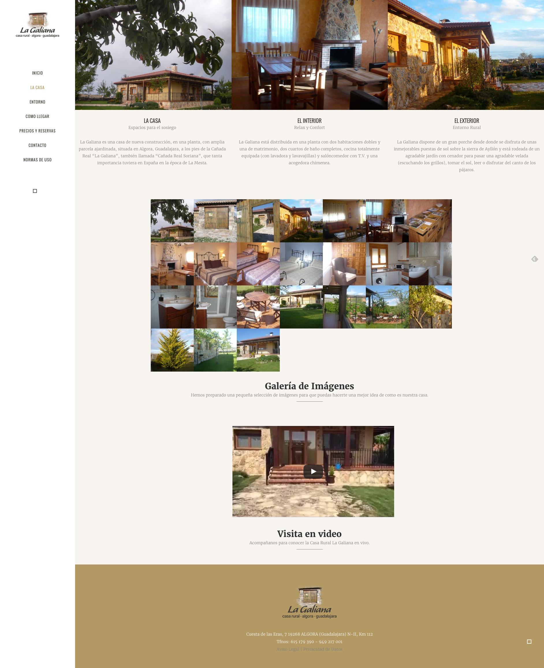 La Galiana casa rural detalle del alojamiento