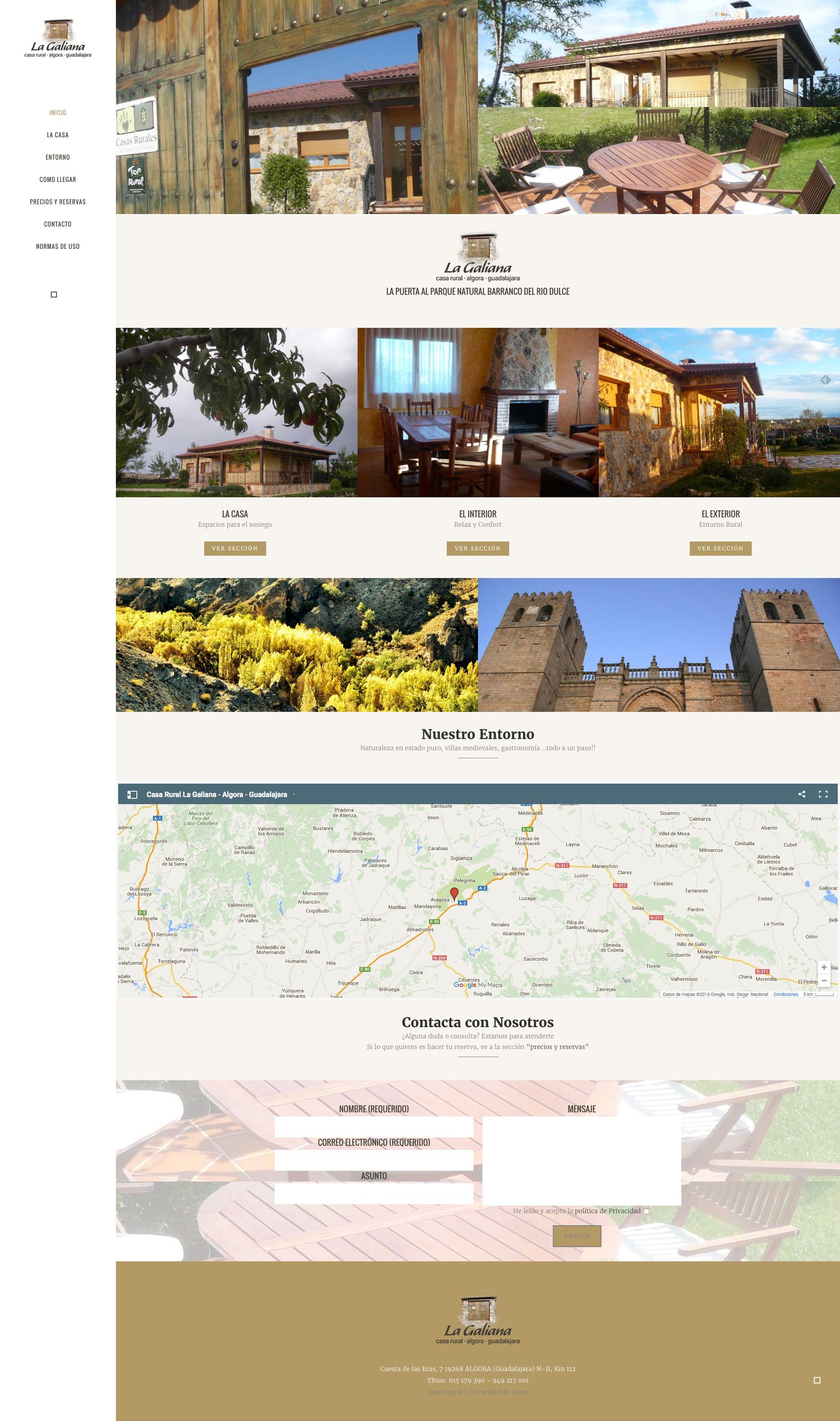 Casa rural La Galiana web completa