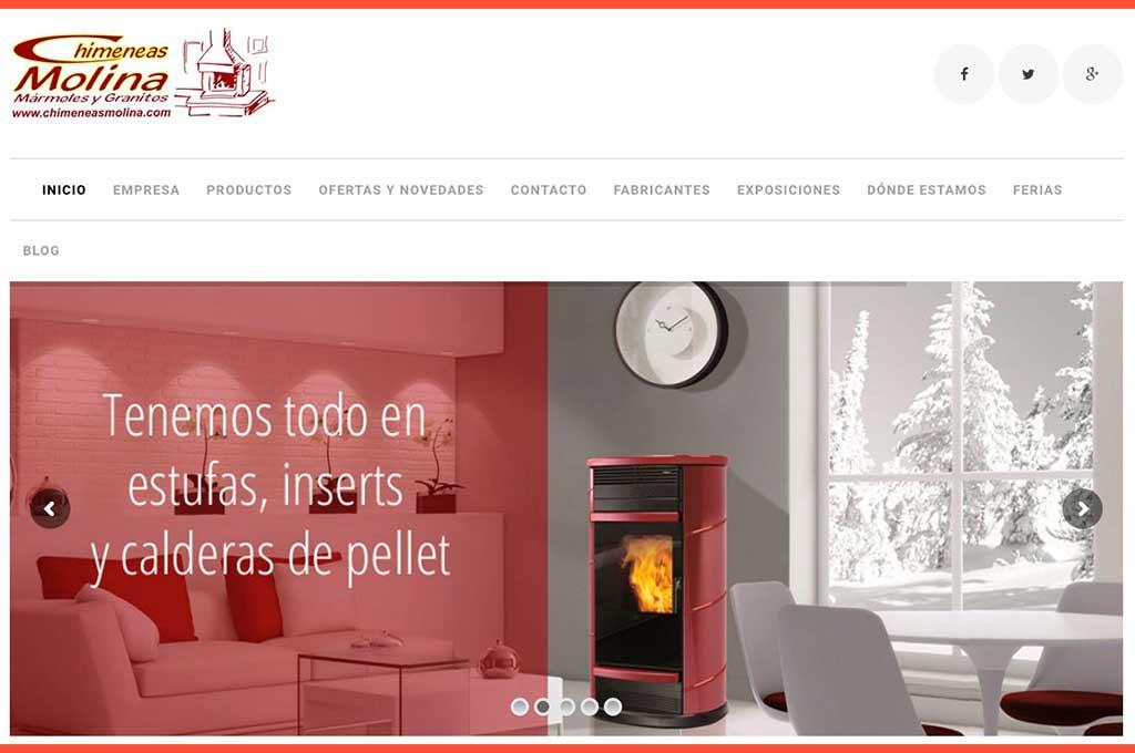 Web chimeneas Molina