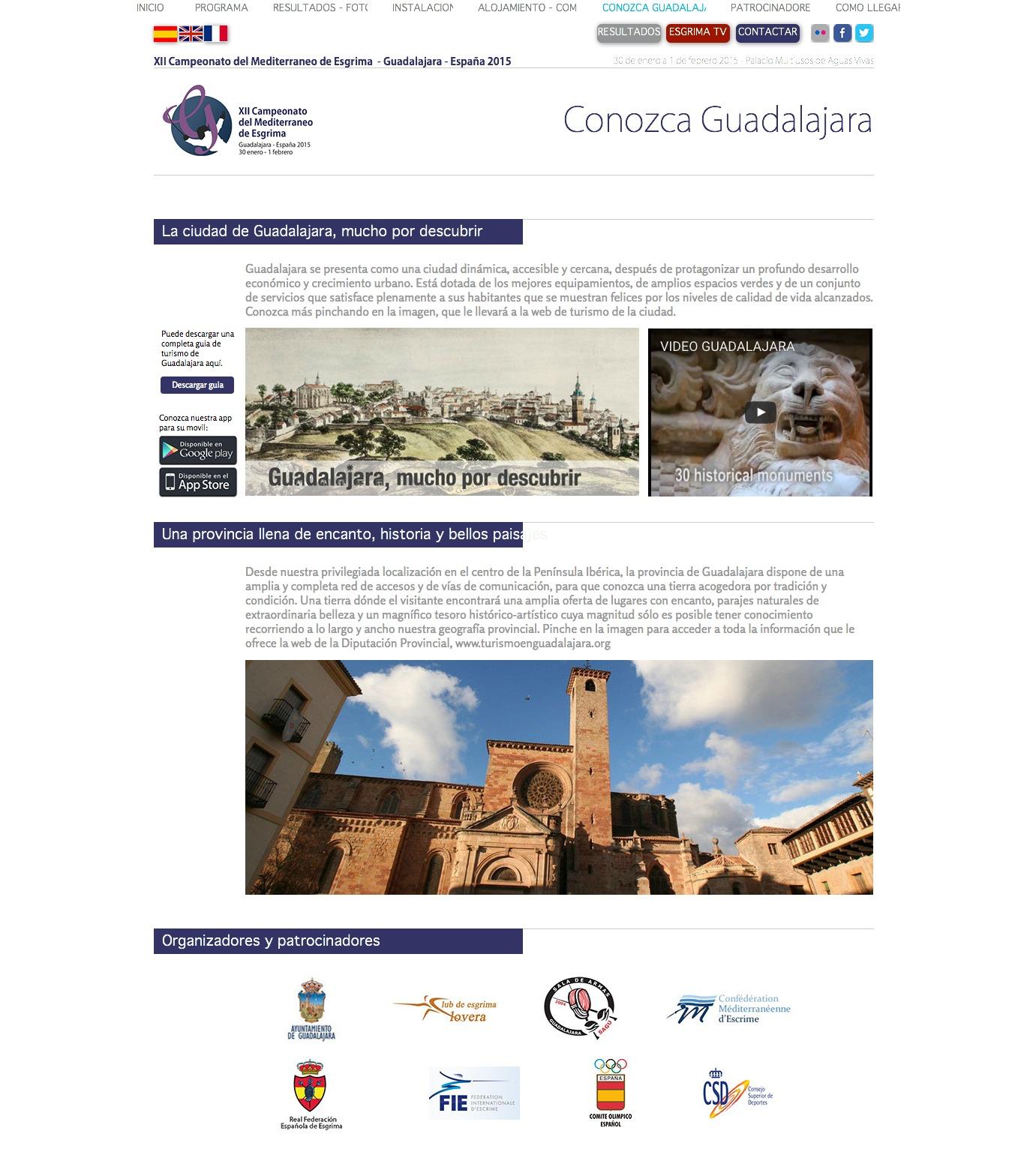 Campeonato del Mediterráneo de esgrima, sección web qué hacer en Guadalajara
