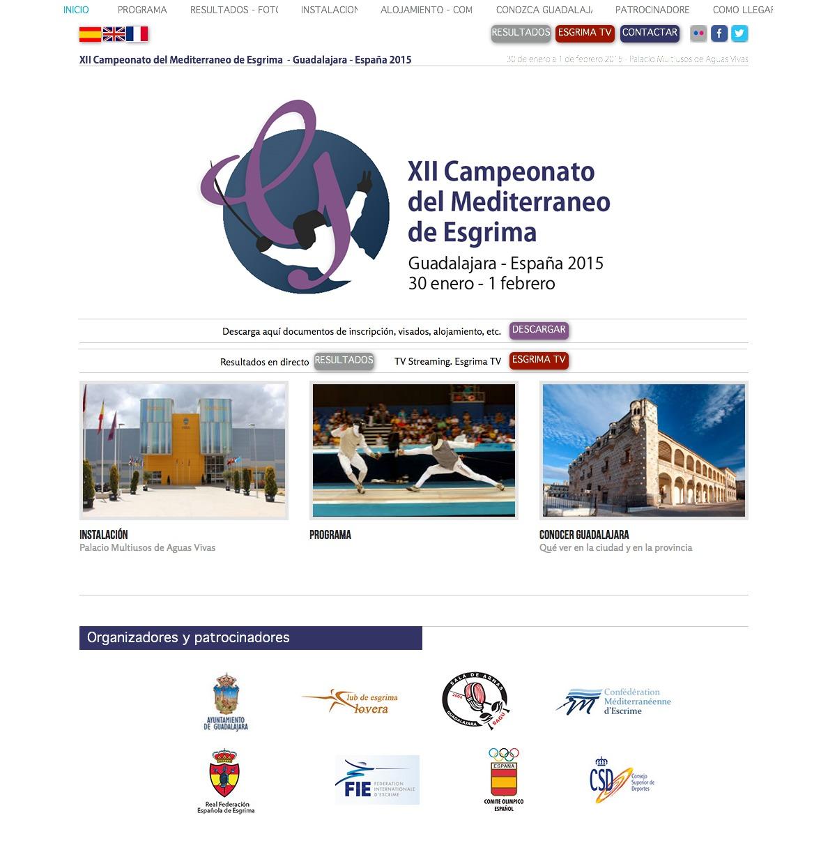 Página inicio campeonato del Mediterráneo de Esgrima