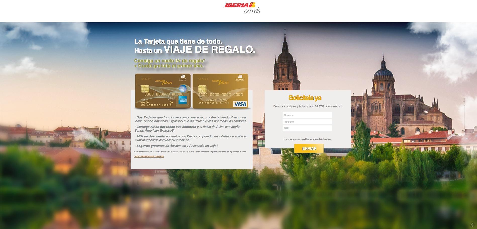 Solicitar tarjeta Iberia Cards