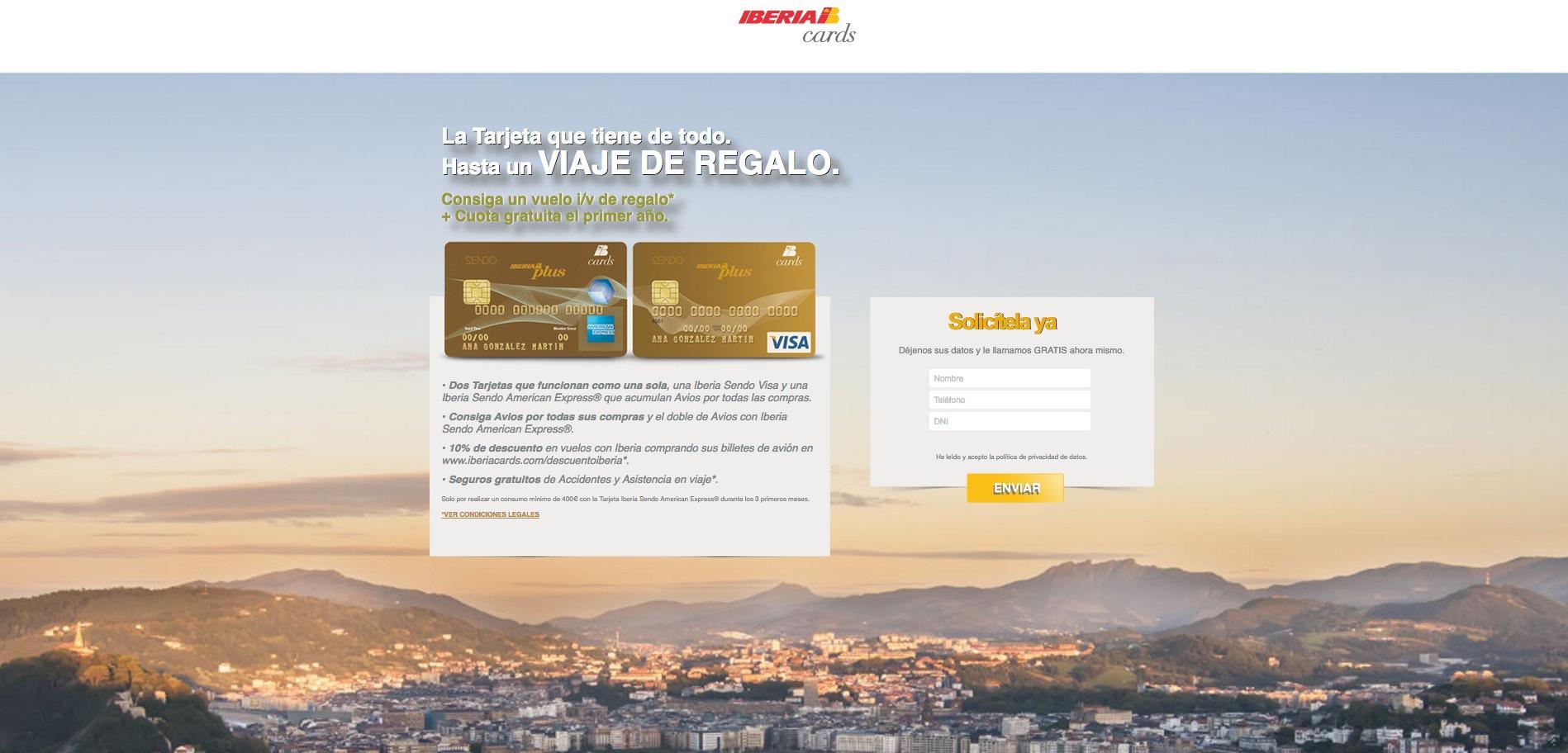 Viaje de regalo con Iberia Cards