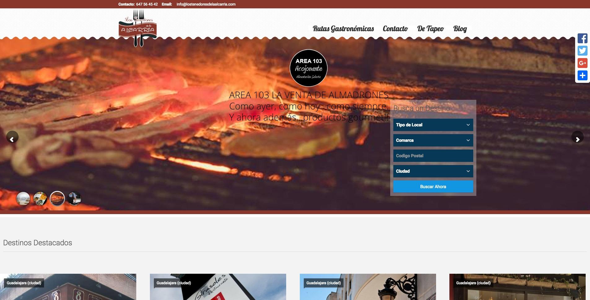 Detalle cliente web Los Tenedores de la Alcarria, Área 103