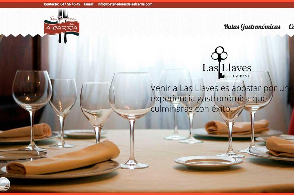 Web de Los Tenedores de la Alcarria, restaurantes y rutas gastronómicas