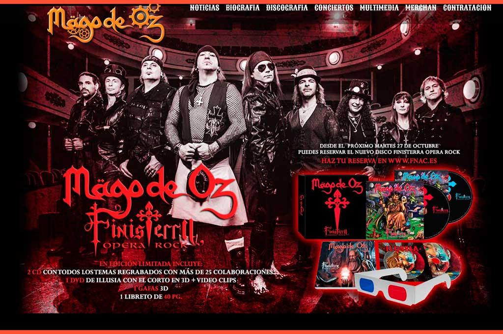 Web de grupo musical Mago de Oz