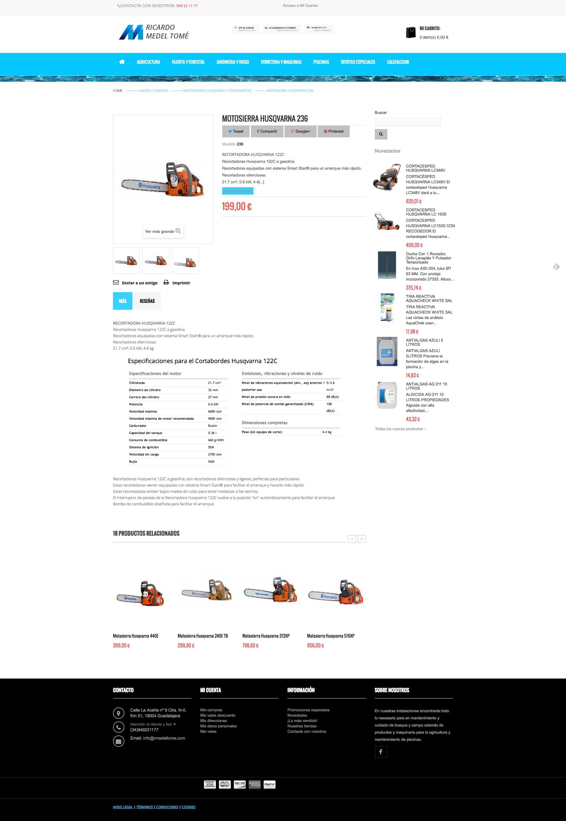Tienda online Medel Tomé