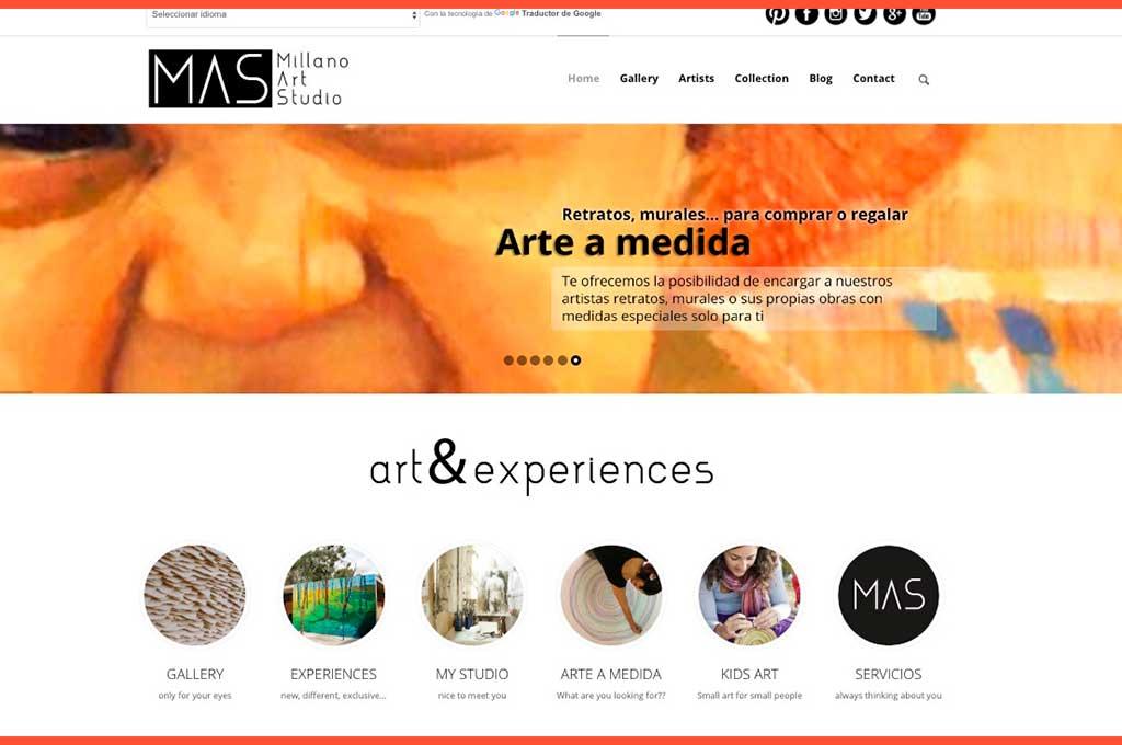 Web de inicio de Millano Art Studio