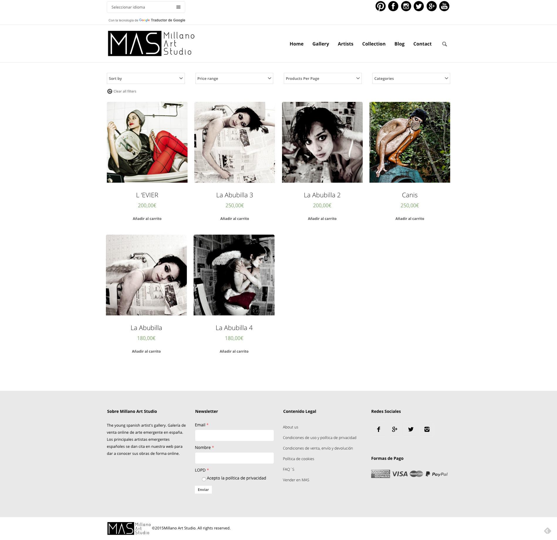 Obras de arte de la web de Millano Art Studio