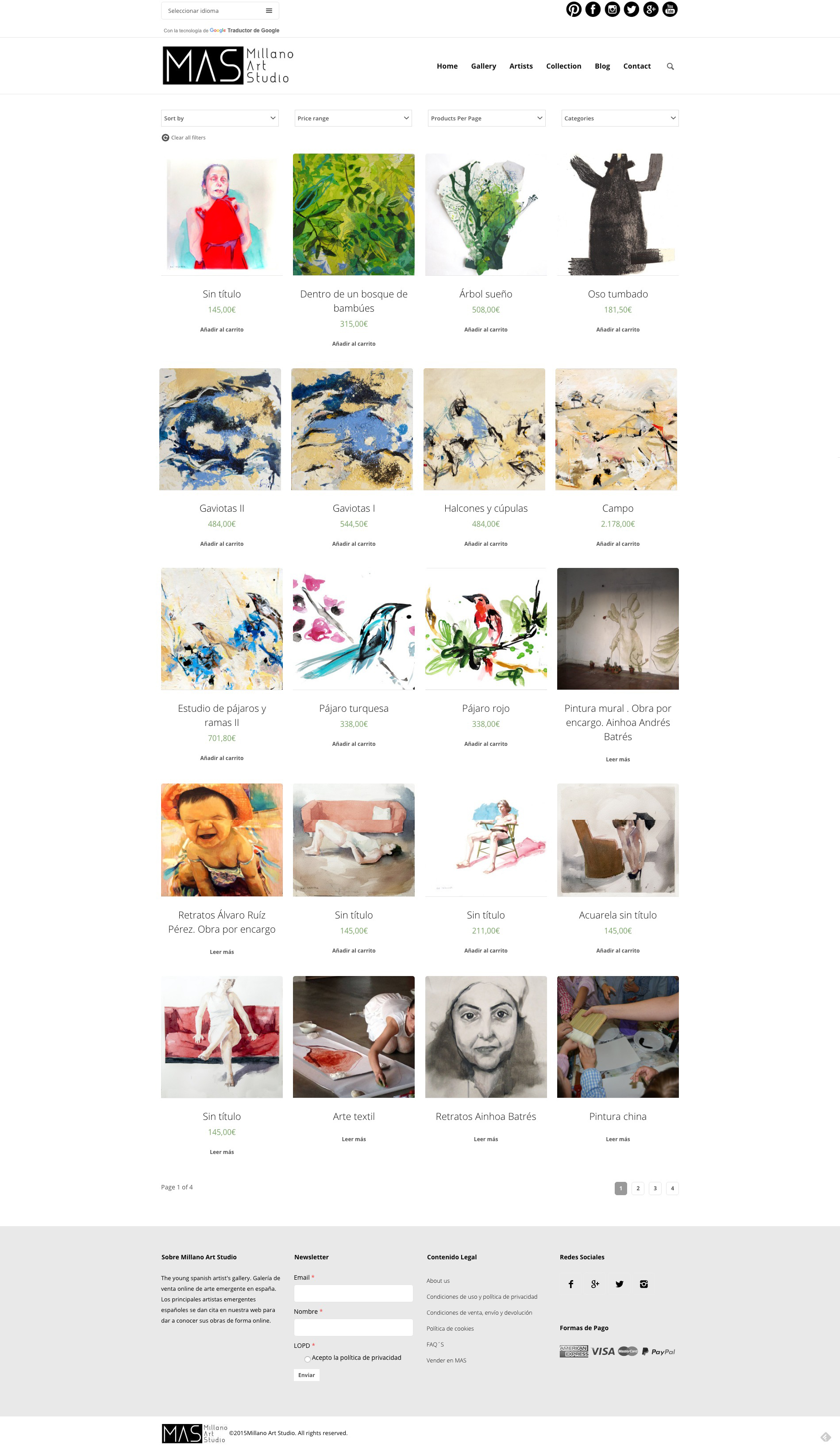 Tienda online de Millano Art Studio