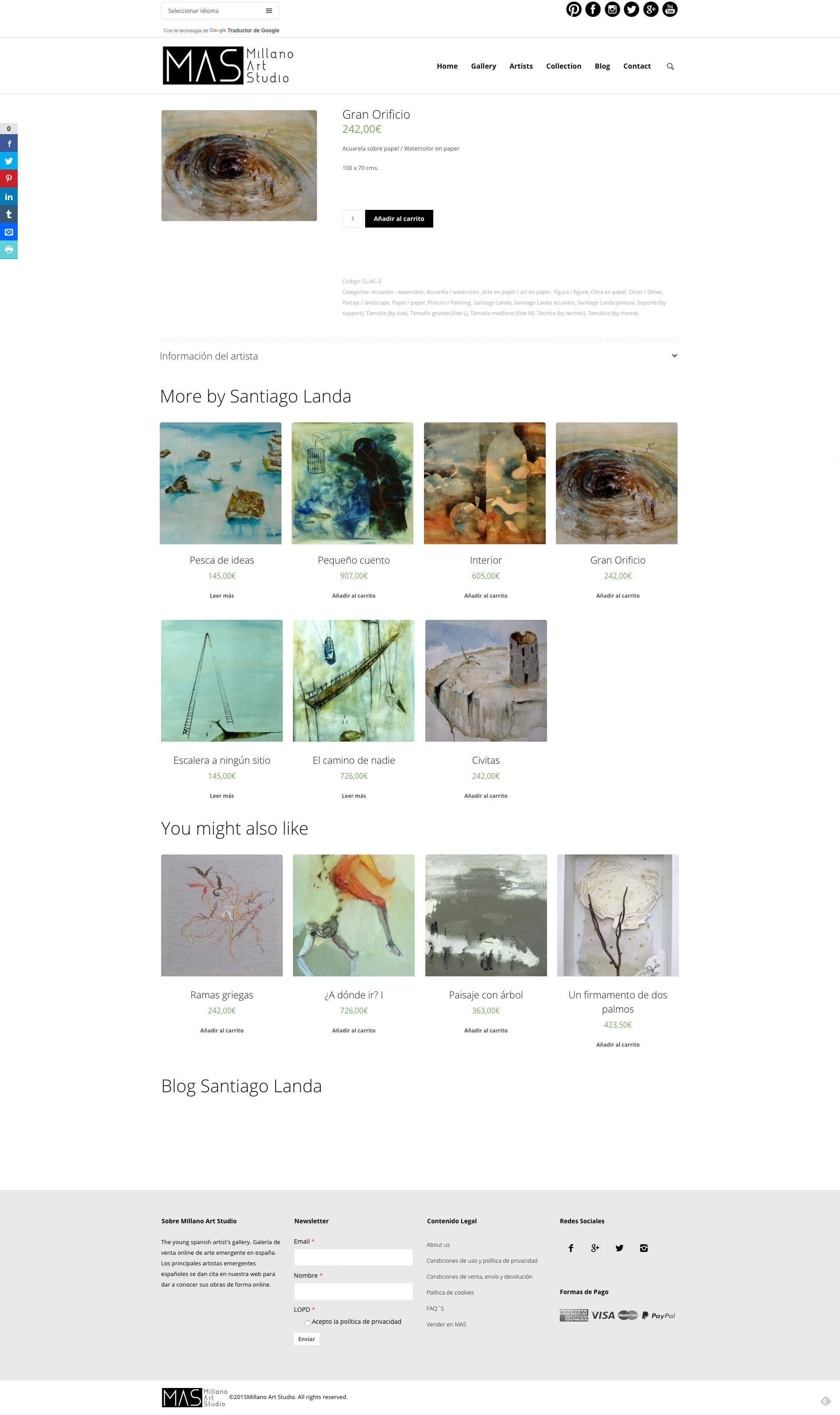 Captura de pantalla web completa Millano Art Studio
