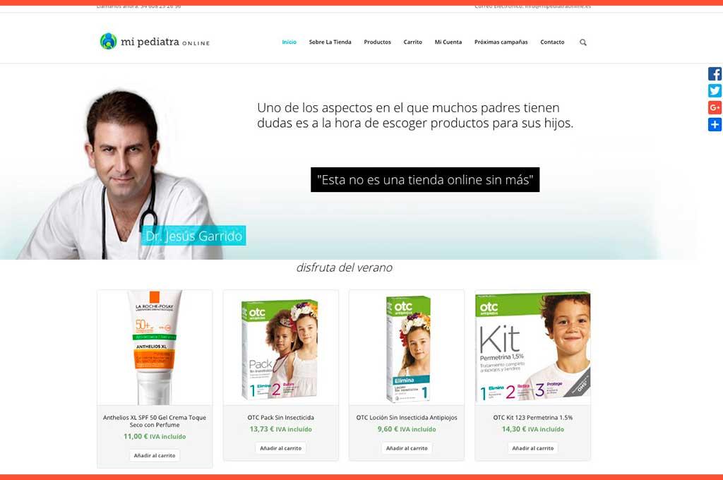 Página inicio Mi Pediatra Online