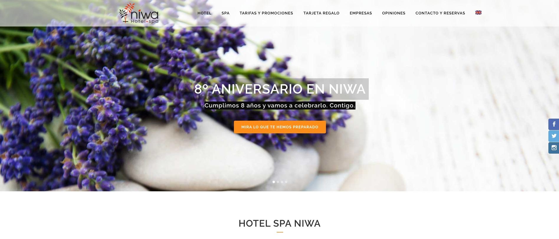 Imagen de la celebración especial con sorteo del octavo aniversario de Hotel Spa Niwa