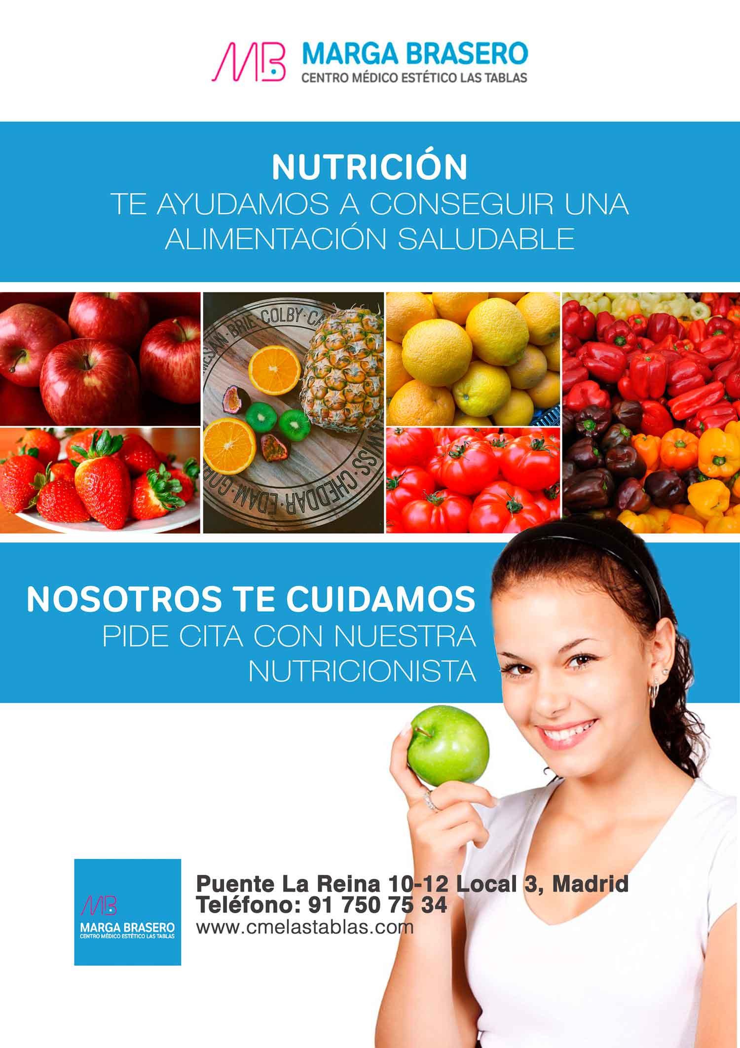 Promoción especial nutrición en Marga Brasero centro médico estético