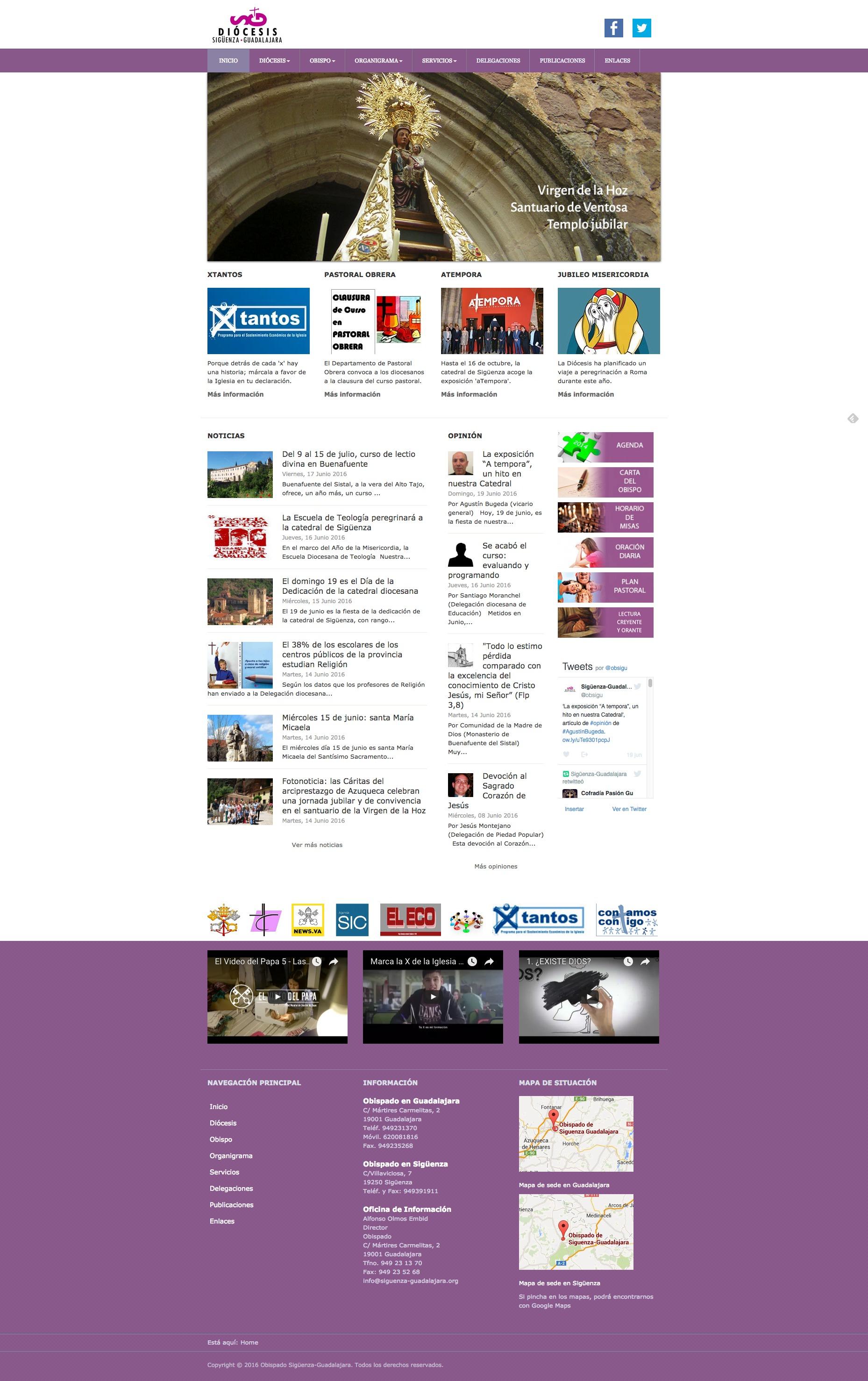 Web completa Obispado de Sigüenza Guadalajara