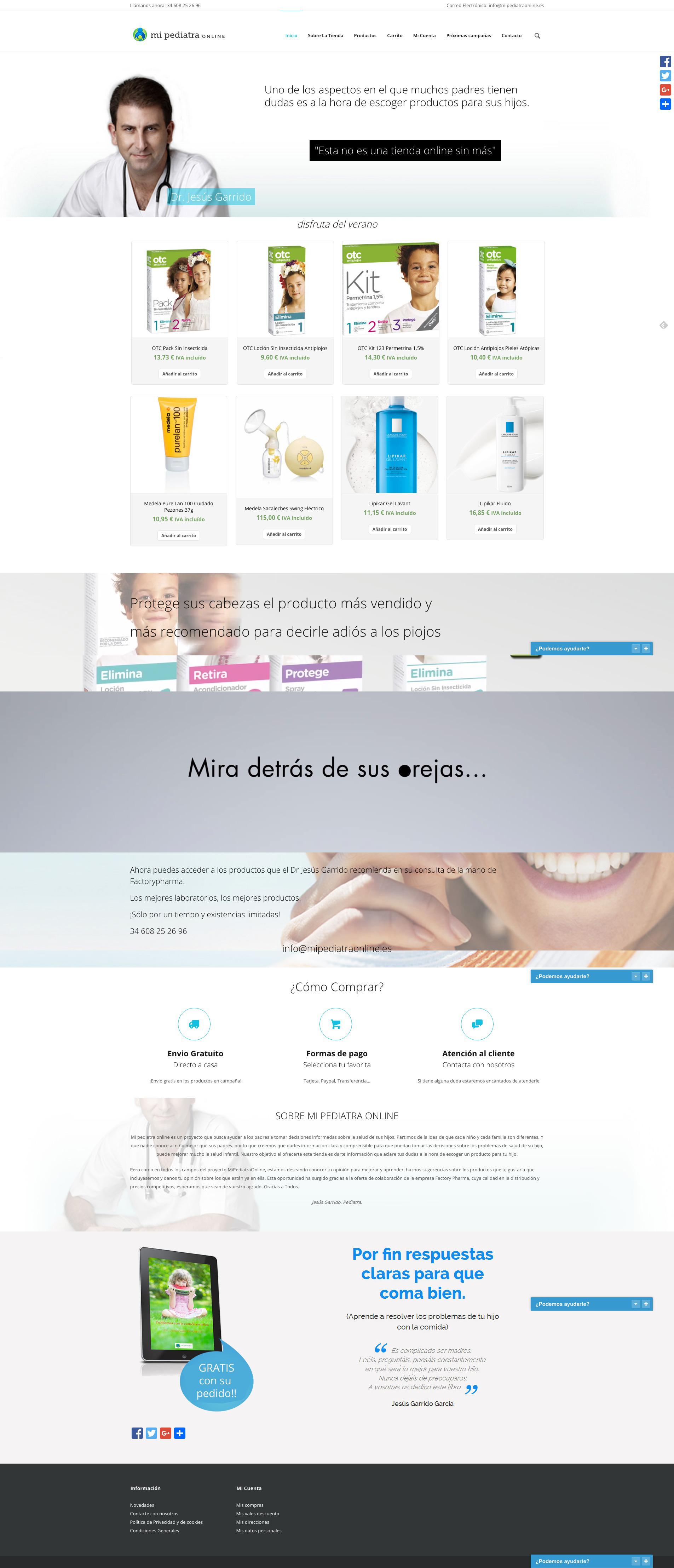 Web completa Mi Pediatra Online