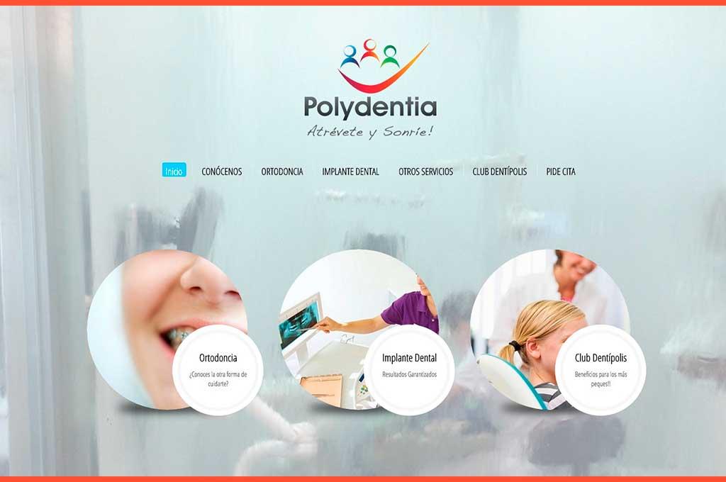 Página inicio web Polydentia