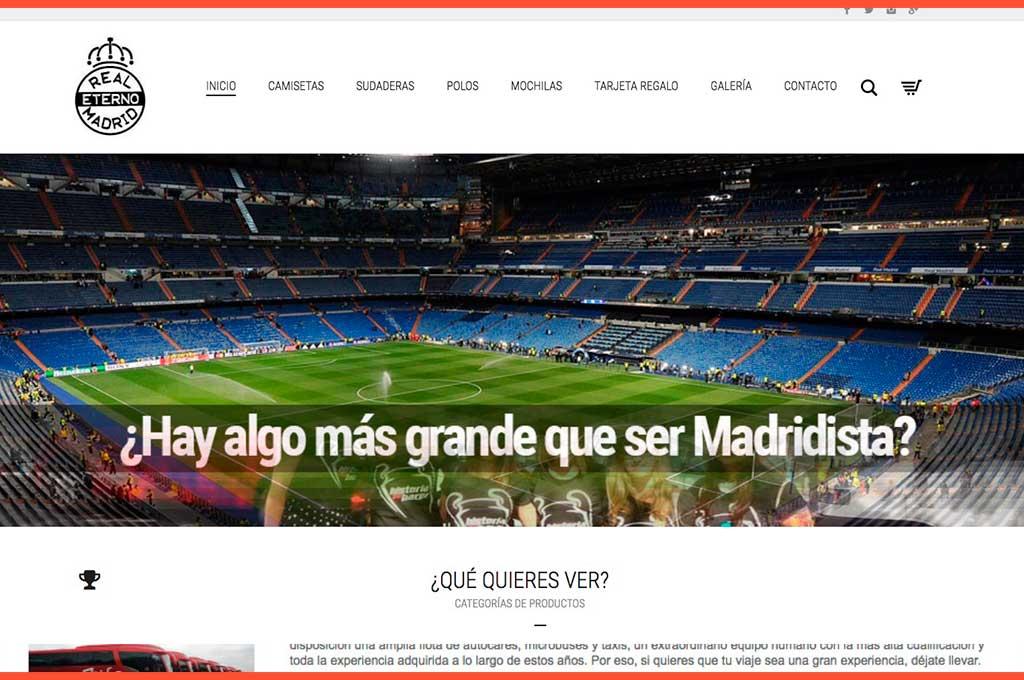 Página inicio web Real Madrid Eterno