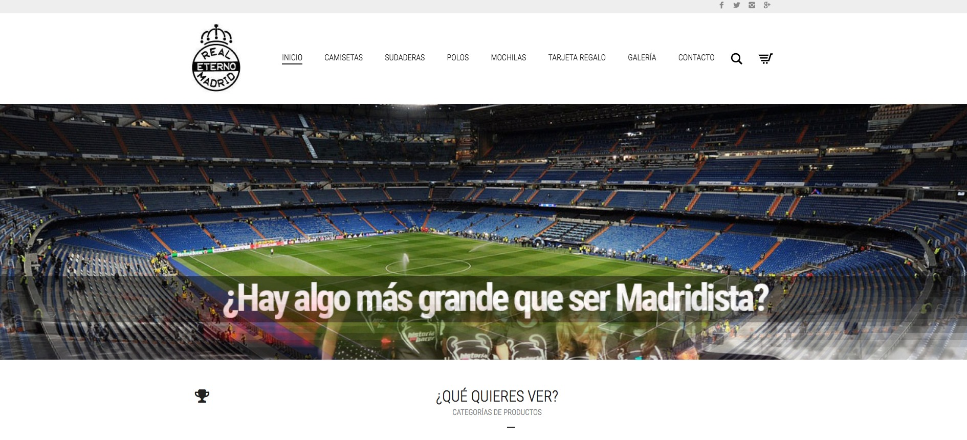 Portada web Real Madrid Eterno