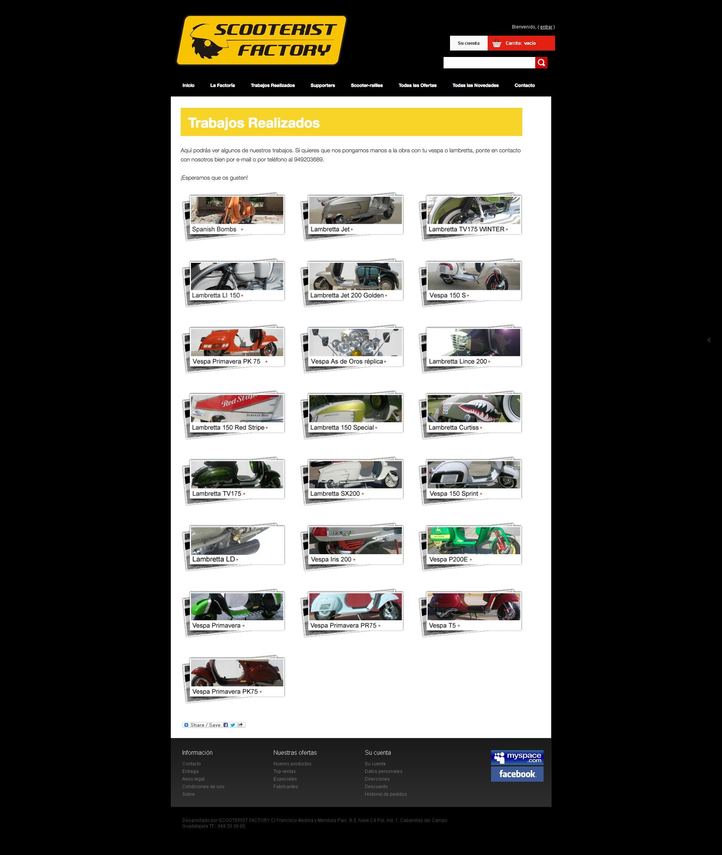Web completa Scooterist Factory