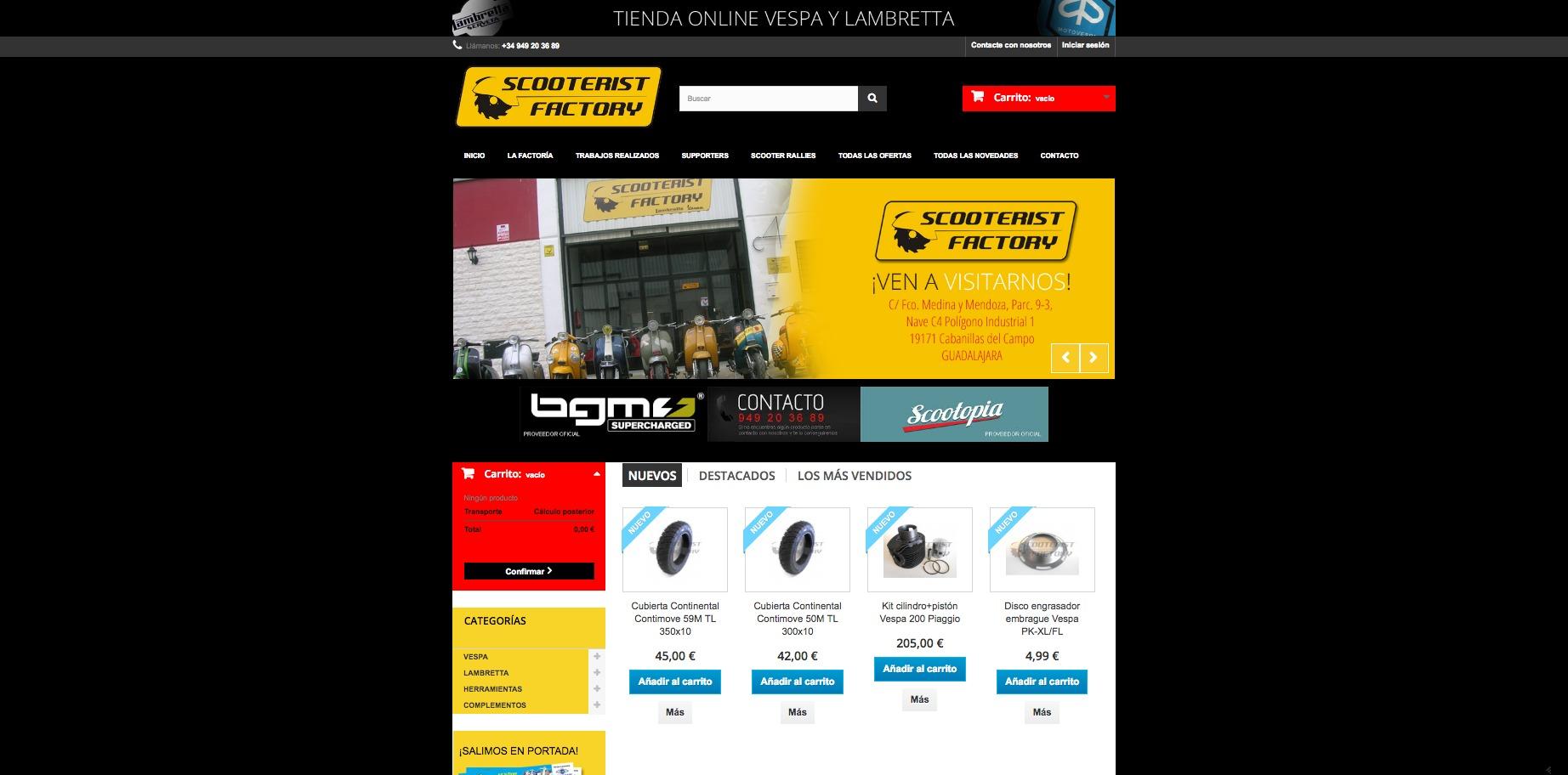 Página de inicio Scooterist Factory