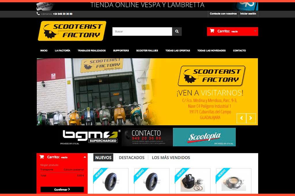 Portada web Scooterist Factory