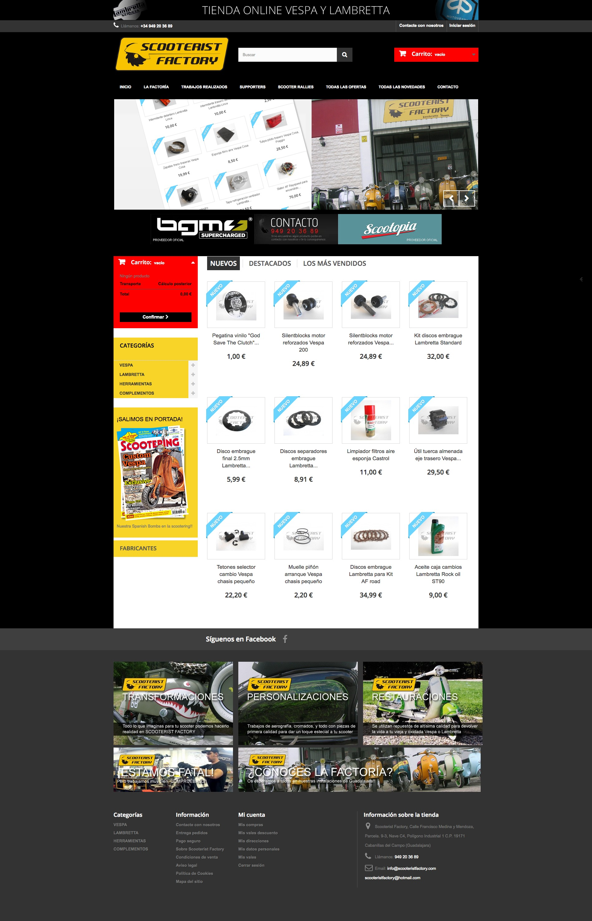Tienda online Scooterist Factory