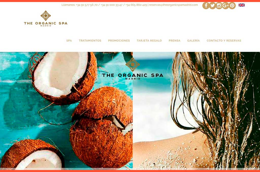 Carrusel imágenes web The Organic Spa