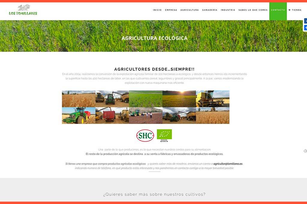 Web Los Tomillares agricultura