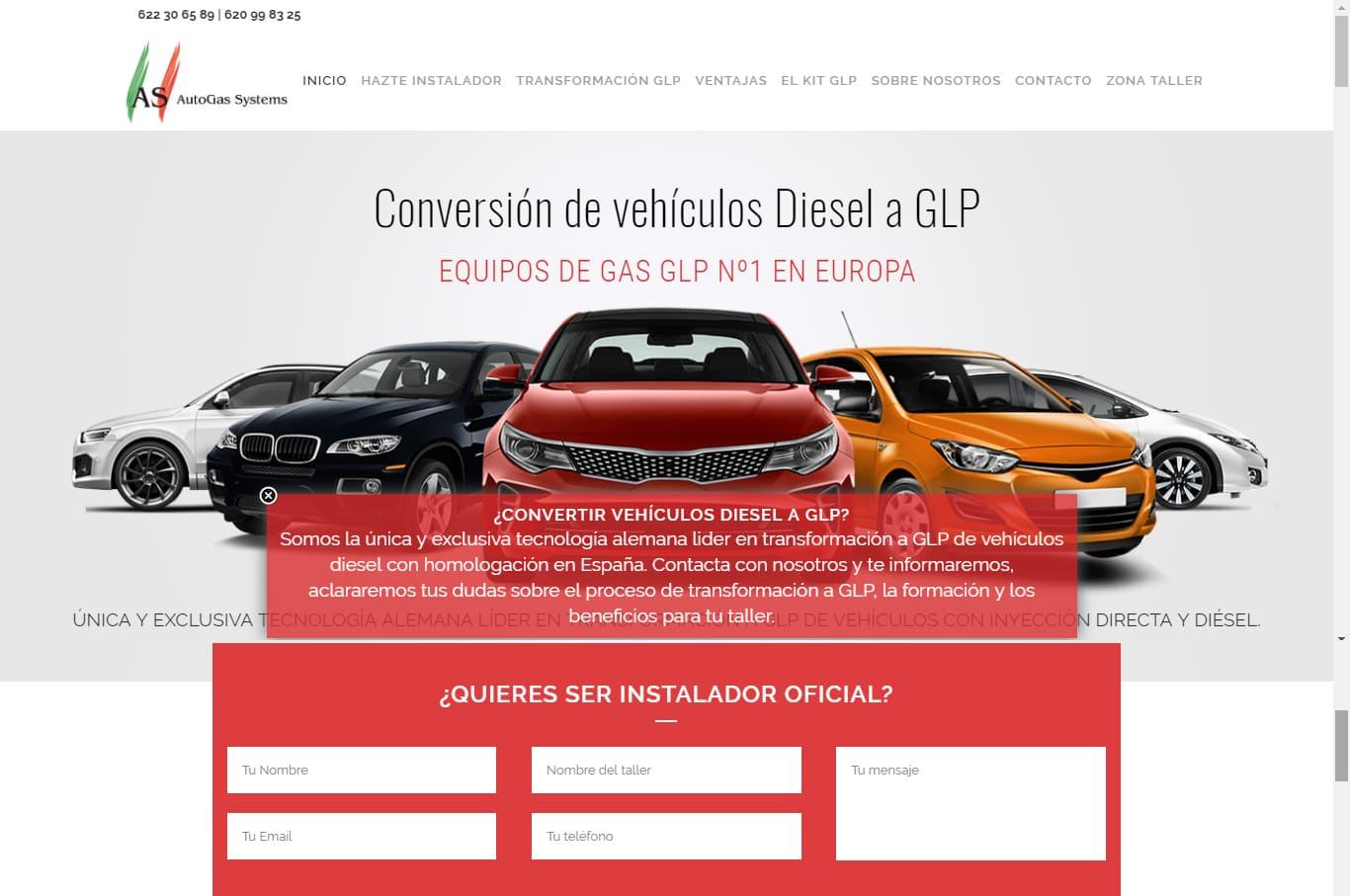 Guadalweb diseña la nueva página web de as autogas systems